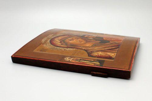 Редкая старинная живописная икона Божией Матери «Казанская», Гуслицы, 19 век