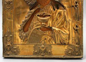 Старинная древнерусская икона «Святой Иоанн Предтеча», Россия, Ярославль, перв. пол. 19 в.