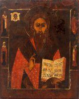 Старинная деревянная икона Священномученик Антипий, Поволжье, к. 19 в.
