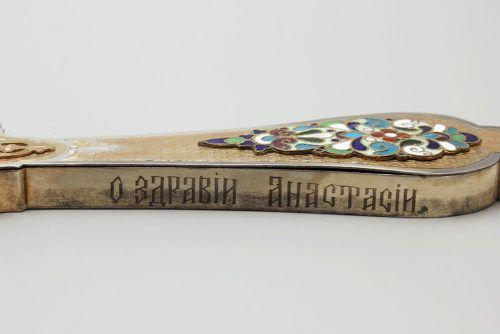 Старинный серебряный крест-распятие напрестольный, Россия, н. 20 в.