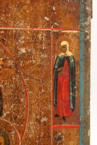 Старинная деревянная икона «Божия Матерь Казанская», Россия, Поволжье