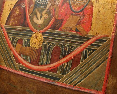 Деревянная икона Божией Матери «Нерушимая стена», Россия, Поволжье, 19 в.