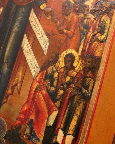Старинная деревянная икона Божией Матери «Всех скорбящих радость», Россия, Ярославль, кон. 19 в.