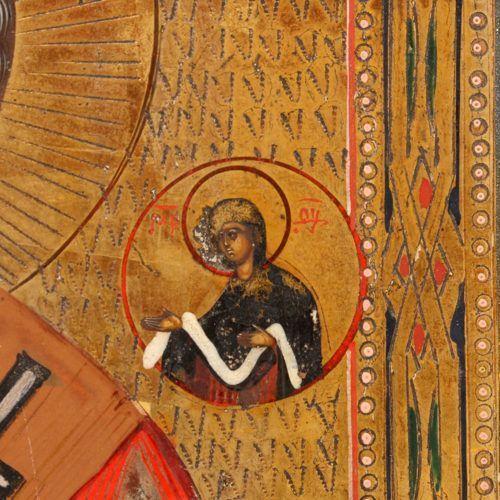 Старинная деревянная икона «Святой Николай чудотворец», Россия, Холуй, нач. 20 в.