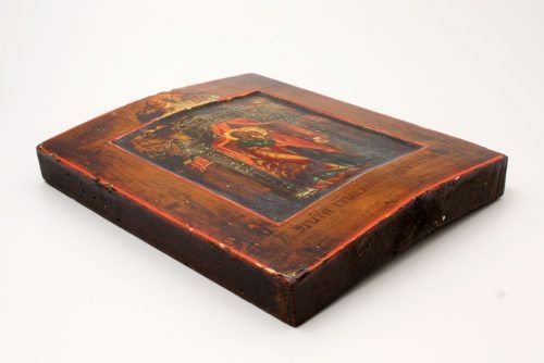 Старинная деревянная именная икона «Иоаким и Анна», Россия, с. Гуслицы, сер. 19 в.