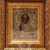 Древнерусская икона «Святой Николай Чудотворец», Россия, Москва, 1841 г.
